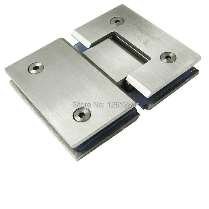 free shipping Stainless steel glass door hinge bathroom clip shower room hinge glass clamp household hardware 180-degree hinge<br>