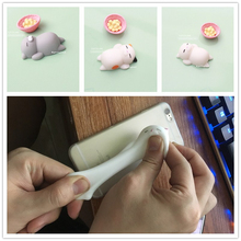 wholesale Cute Mochi Mini Squeeze Squishy cat Cute Kawaii doll Squeeze Stretchy Animal Healing Stress kids adults antistres toys