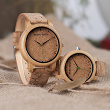 BOBO BIRD Watches Bamboo Couple Clocks Analog Display Bamboo Material Handcrafted Timepieces Wooden Watch Men Made in China(China)