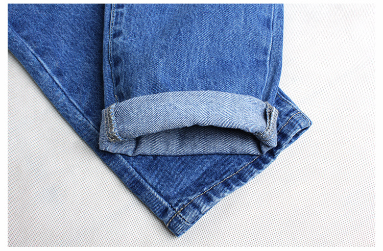 2018 Casual European Station Europe and the United States Style BF Wind Women Sequin Straight Hole Large jeans New Loose pants (20)