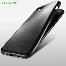 FLOVEME Leather Case For iPhone 7 6 Phone Cases Business Crazy Horse Pattern Cover For iPhone 6 7 6s Plus Back Case Coque