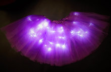 New arrival rave club brithday led lights tutu skirt fro girls (China (Mainland))