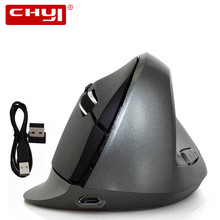 CHUYI 1600 DPI Wireless Vertical Mouse Wireless Vertical Mice USB 2.0 Gaming Mouse Ergonomics Vertical Mouse for Computer Gamer
