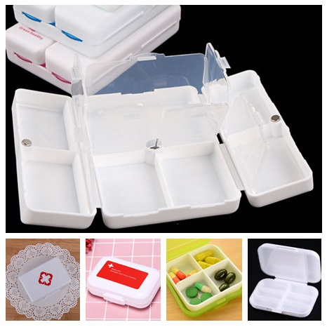Portable 7 Days Mini Plastic Pill Box Medicine Container Case Cute Empty Pill Holders Reminder For Healthy Care