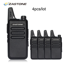 4pcs/lot Zastone X6 Portable walkie talkie UHF 400-470MHZ Walkie Talkie Kids Ham Radio Transceiver Mini Handheld Radio(China)