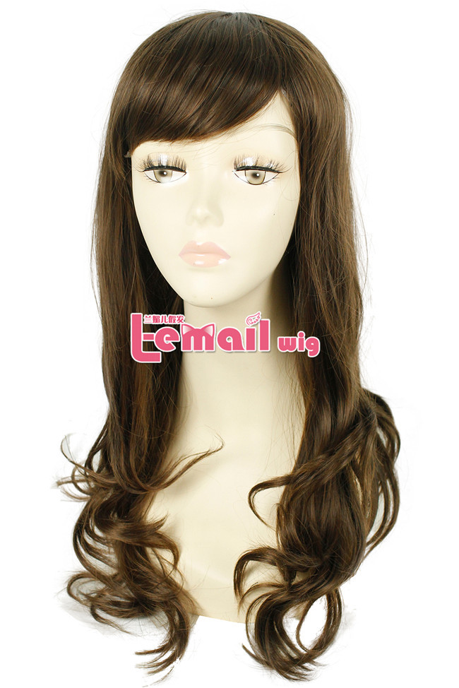 Free Shipping Fashion Synthetic Heat Resistant Body Wave Long Light Brown Wig Cosplay<br><br>Aliexpress