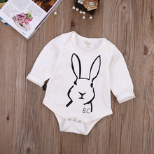 Casual Toddler Newborn Baby Boy Girls Clothes Bunny Pattern Long sleeve Spring Autumn Baby Romper Jumpsuit  0-18M