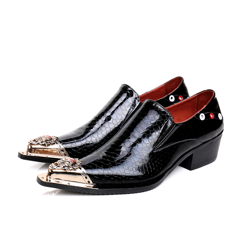 2017 new Fashion Italian designer formal mens dress shoes studded leather luxury wedding shoes men loafers office for male<br><br>Aliexpress