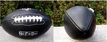 black color Outdoor Sport Rugby Ball American Football Balls PU Size 9 For College Teenagers Training And Match(China)