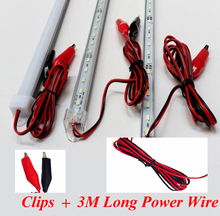 Night Market Lighting Best Choice 5pcs*50cm DC12V 5730 LED Rigid Bar 72LEDs/M Rigid LED Strip 5630 with 3M Power Wire and Clips(China)