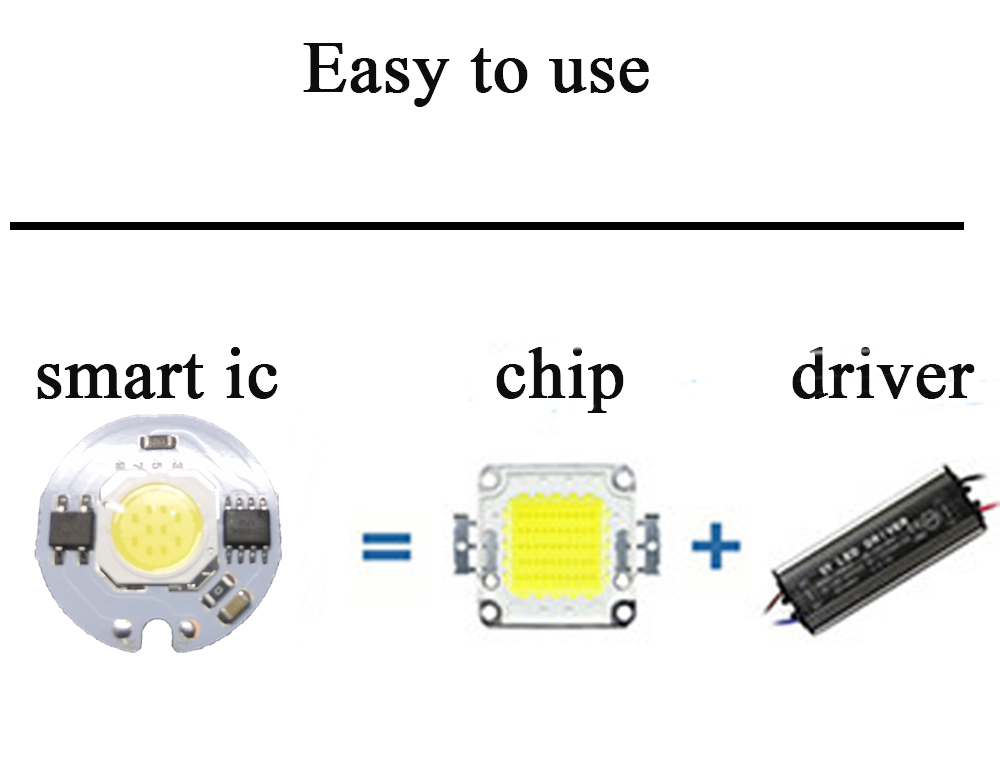 YB yiba 3W 5W 7W 9W 20V LED Lamp Chip Cold White Warm White COB Led Light Smart IC Driver Fit For DIY LED Spotlight Floodlight