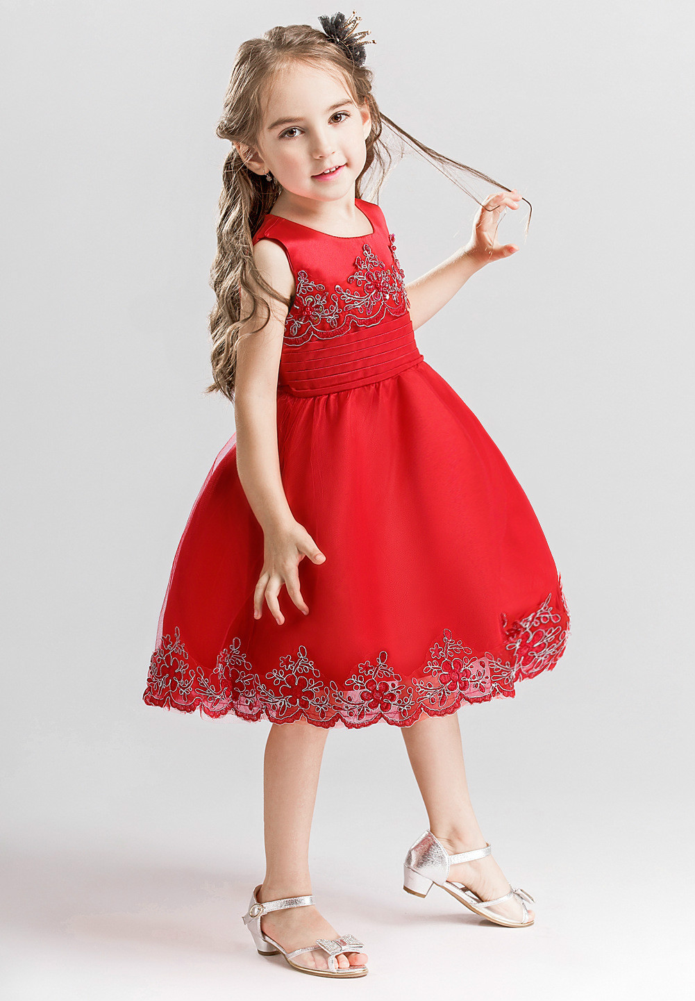 2018 Kids Wedding Summer Party Dresses For Girls Birthday Princess Costume Children Toddler Elegant Vestido 3 6 8 10 12 years<br>