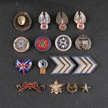 Badges Cowboy Style Medal Pins Eagle Sun Beard Wheat Five-Pointed Star Brooch Pin Clothing Needle Men Suit Harajuku Broches(China)