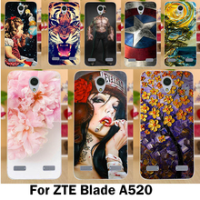 TAOYUNXI Mobile Phone Cases For ZTE Blade A520 Cover A 520 BA520 5.0 inch Cases Cool Cute Stylish Soft TPU Silicon Skins Bags(China)