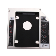 Fashion Universal 12.6*12.7*1.27cm size SATA to SATA 2nd HDD HD SSD Hard Driver Caddy for 12.7mm CD/DVD-ROM(China)