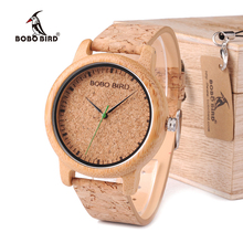 BOBO BIRD WM11M12 Lovers Casual Quartz Watches for Men Natural Bamboo Watch face Women's Brand Watches in Box Dropshipping
