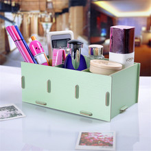 Multifunction Retro DIY Desktop Storage Box Racks Remote Control Jewelry Cosmetic Sundries Perfume Storage Boxes Shelf(China)