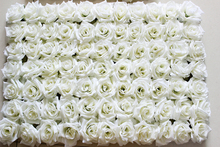 EMS Free Shipping 60*40cm white Artificial silk rose flower wall wedding background lawn/pillar flower home market decoration