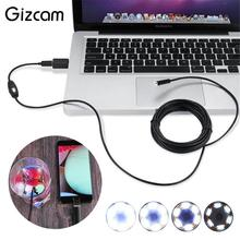 Gizcam 2m 7mm 0.3MP Micro USB OTG Endoscope Waterproof Sewer Car Inspection Snake Tube Video Camera for Android Phone Computer(China)