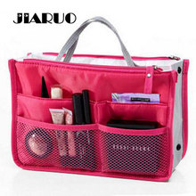 Clear Compact Portable Make up Women Makeup Organizer Bag Girls Cosmetic Bag Toiletry Travel Kits Storage bag  Hand bag track
