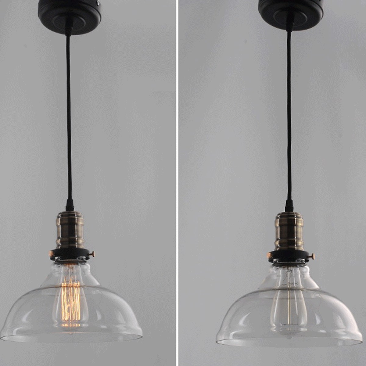 E27 40W 25cm Diameter Vintage Industrial Glass Pedant Light Lamp Windmill Chandelier Lampshade<br>