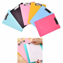 New Office School Supplies clipboards A4 notes folder write sub-plate holder WordPad Stationery Paper File Folder Holder 1pcs