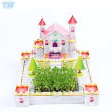 DIY 3D Castle model puzzle educational toys house puzzle toys for children puzzles adults hobby puzzle best DIY gifts