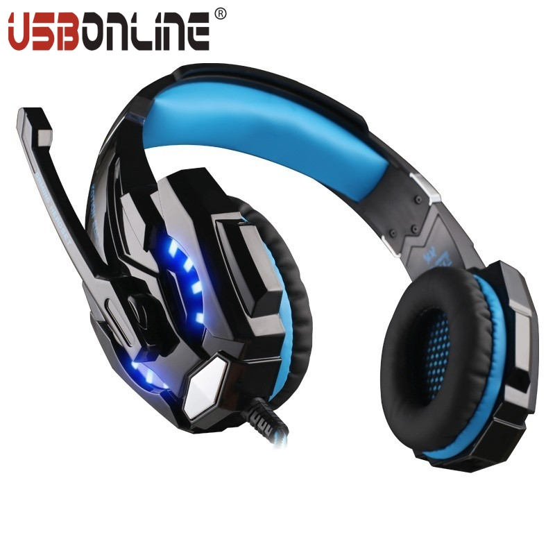 EACH G9000 3.5mm Gaming Headphone Hifi Stereo Headband Headset with Microphone LED Light for Laptop PC Mobile Phones/PS4<br><br>Aliexpress