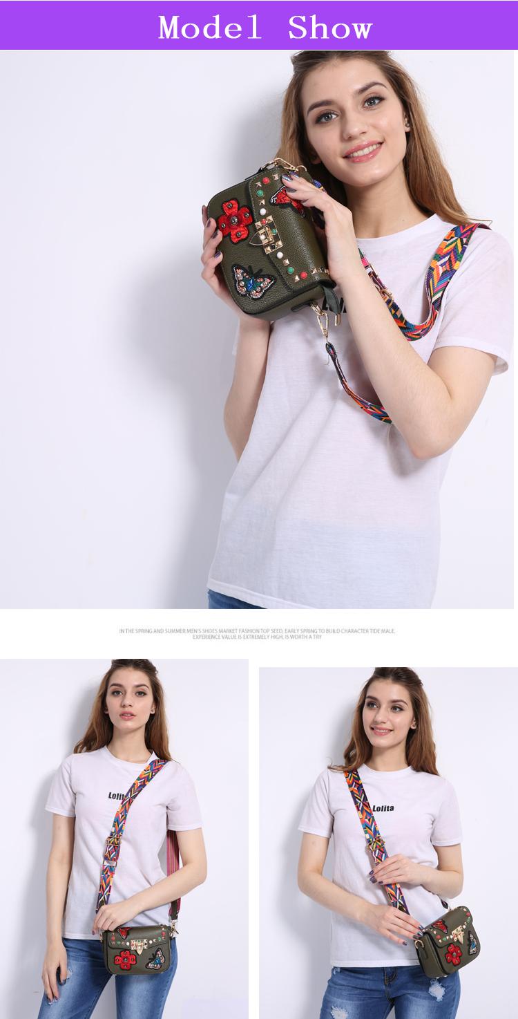 SAJOSE Women Small Hand Bag Flowers Designer Leather Shoulder Woman's Fashion Messenger Lady Crossbody Luxury Handbag Women Bags 7