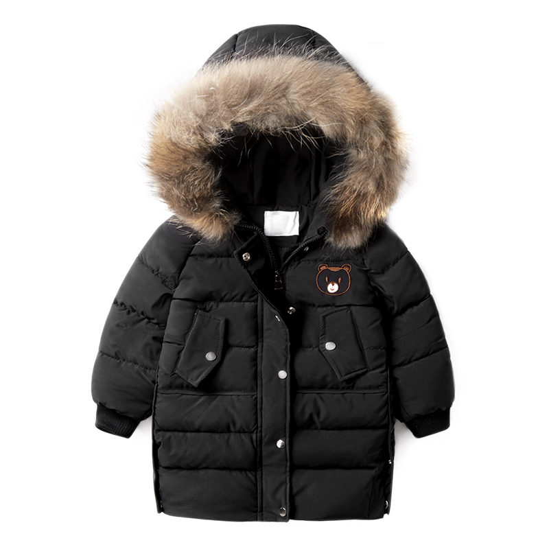 New Fashion Warm Children Winter Clothes Jacket Clothing Windbreaker Jean Jackets Casual Hooded Children Thick Warm Coat 2-6T<br>
