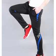 2017 New Arrival Sports Kids Soccer Training Pants Skinny Men Volleyball Trousers Zipper Leg Pants Ropa Running Hombre Red S-4XL(China)
