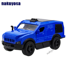1:32 Hummer Warrior SUV Off-road Armor Explosion protection Car model alloy pull back Sound and light Children's holiday gift(China)