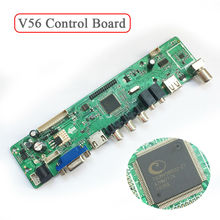 V56 Universal LCD TV Controller Driver Board PC/VGA/HDMI/USB Interface USB play media Only V56 Control Board(China)