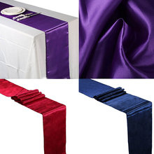 12 x 108 Inch Satin Table Runner Wedding Venue Table Decoration Party Desk Decor
