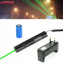 AIFENG 850 Laser Pointer 532nm Green Laser+16340 Battery+EU Charger Portable Lights For Teaching Training Pointing Laser Pointer(China)