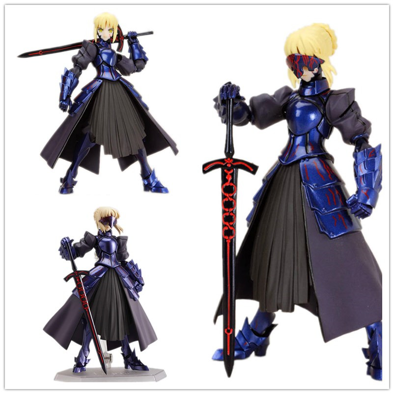 Japanese Anime Figures Figma Fate stay Night Blue Saber Doll 072# PVC Action Figure Model Toy 15cm Retial Box<br><br>Aliexpress