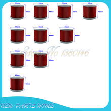 10pcs Oil Filter For SUZUKI DRZ 400 400E 400S 400SM LTZ400 LTR450 KAWASAKI KFX400 ATV(China)