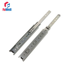 2pcs 9'' Length Drawer Sliding Rail 38mm Width Cold-Rolled Steel Fold Telescopic Ball Bearing Cabinet Drawer Slide Runner(China)