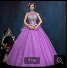 2016 elegant purple a line hollow back sexy beading prom dresses sleeveless beading crystals luxury prom gowns best selling
