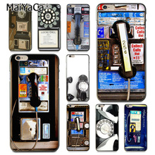 MaiYaCa Fashion classic retro payphone PAYPHONE 2017 New Luxury cell phone case for Apple iPhone 8 7 6 6S Plus X 5 5S SE 5C(China)