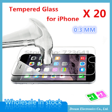 MXHOBIC 20pcs/lot Ultra Thin Anti-shatter Tempered Glass For iPhone X 8 7 6 6s plus 5 5s 5c Screen Protector Film + Clean Tool(China)