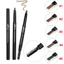 2 in 1 Makeup Eyebrow Waterproof Permanent Pencil Cosmetics Brow Eye Liner Tools FM88(China)