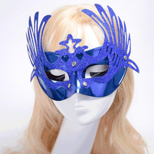 20 Pcs\lot Plastic Cosmetic Peacock Ball Mask For Women Half Face Halloween Mask Event Party Cosplay Masquerade Party Masks(China)