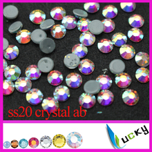 Top quality flat back rhinestones hotfix!1440pcs ss20 crystal ab color most similar to 2038 7 big+7 small face cut