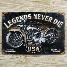 USA motorcycle Tin signs vintage metal home decor decorative plaques for bar wall art craft 20X30CM  SP-MT-029