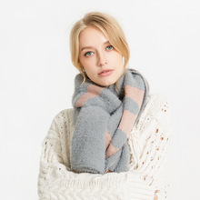 XIANXIANQING Alphabet Pattern Winter Scarf For Women Knitting Shawls Lady Mohair Warm Scarves Echarpe Hiver Femme Cape AL26450(China)