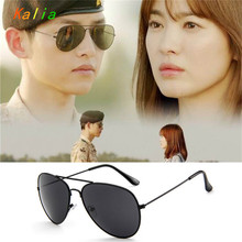 Kalia brand  Design Sunglasses Aviator Women Men Metal frame Sun glasses Aviation 60mm Black lens oculos de sol 3025