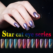 12 Colors Magnetic Cat Eyes Gel Nail Polish LED UV Gel Lacquer 10ML Gel Lak Vernis Semi Permanent Nail Art UV Nail Varnish