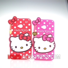 For HTC One M7 Case 3D Lovely Cute Hello Kitty Kt Cat Silicon Back Case Soft Cover Phone Case