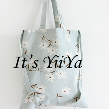 Free Shipping Fashion Cotton Women Messenger Bags Blue with Flowers  Women Crossbody Bags S01
